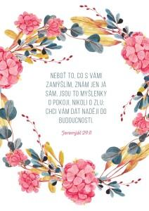 Jeremiáš 29;11-dopisnice