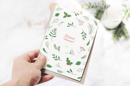 Krásné Vánoce-dopisnice